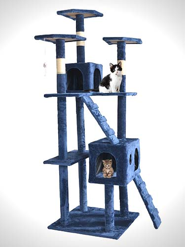 73 inches Cat Tree Scratcher Play House Condo Furniture Bed Post Pet House
