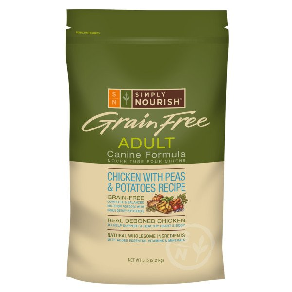 Simply Nourish Grain Free Adult Dog Food - Natural, Chicken with Peas & Potatoes