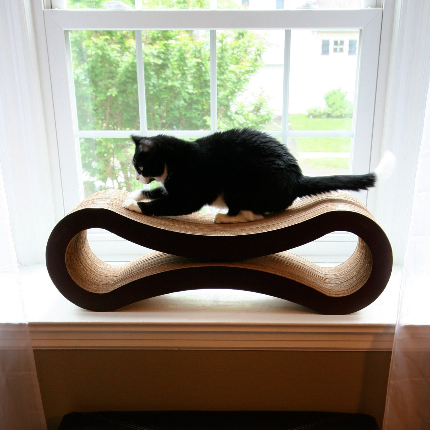 Petfusion cat scratcher lounge deluxe review - Designer cat scratcher ...